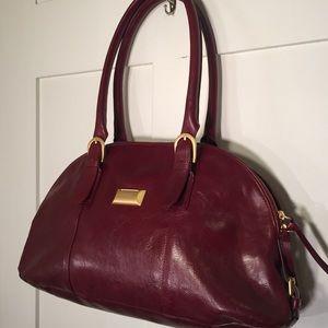 Latico Red shoulder bag matte gold w/ coin slot